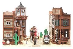 mainstreet (Marshal Banana) Tags: street city town lego western historical wildwest diorama