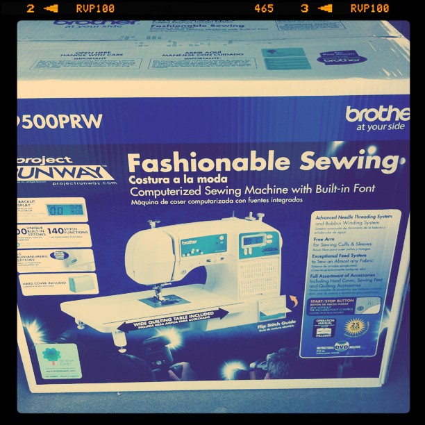 Just bought a new sewing machine for my birthday :) YaY!!!