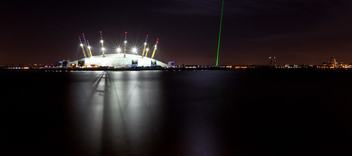 #1 O2 Arena & Greenwich Meridian laser
