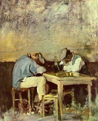 Grigorescu, Nicolae (1838-1907) - Two Drunks (Private Collection) (RasMarley) Tags: portrait table interior 19thcentury painter impressionism worker romanian peasant doubleportrait privatecollection nicolaegrigorescu grigorescu twodrunks