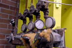 Decaying gas pressure manifold, NDSM shipyard (Pim Stouten) Tags: amsterdam metal rust industrial steel gas wharf weathered shipyard pressure gauge valves meters corrosion corroded metaal roest ndsm noord manifold werf staal scheepswerf monumentendag wijzers shipdock