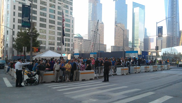 Sept 11th Memorial screening area
