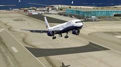 Gibraltar Takeoff (BFL0001) Tags: wings quality flight simulation gaming 200 microsoft simulator gibraltar 757 fs2004 fsx 757200 qualitywings qwsim