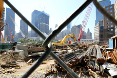 Ground Zero and Freedon Towers (NjCarGuy) Tags: 2001 nyc building tower freedom site construction towers 911 attack terrorist ground 11 september american 11th zero