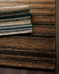 Ralph Lauren Cliff Stripe layered (Hemphill's Rugs & Carpets) Tags: cliff lauren stripe rug rugs ralph hemp jute