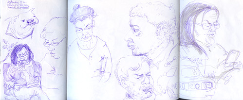 September 2011: Sketching while Waiting by apple-pine