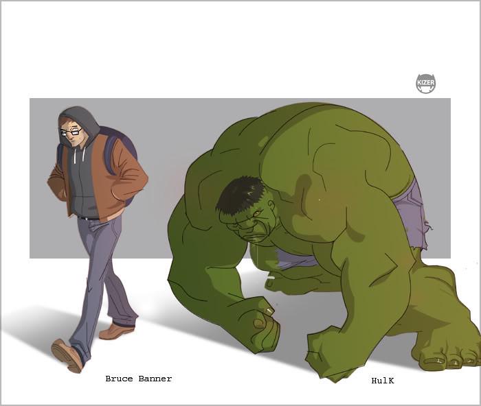 desenho nerd hulk