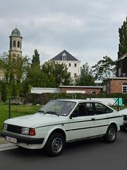 Skoda Rapid (skodafiel Belgium) Tags: white car czech belgium belgique belgië oldtimer 1985 rapid kerk skoda favorit youngtimer abdij drongen škoda rearengined aznp