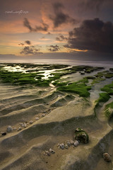 Balangan Golden Hour (Randi Ang) Tags: sunset bali seascape beach canon indonesia landscape eos golden asia pattern filter hour 5d ang hitech randi mosses balangan