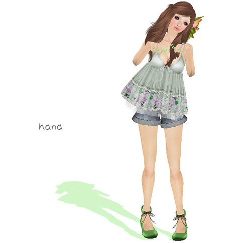 = Hal*Hina = camisole*floral [green]