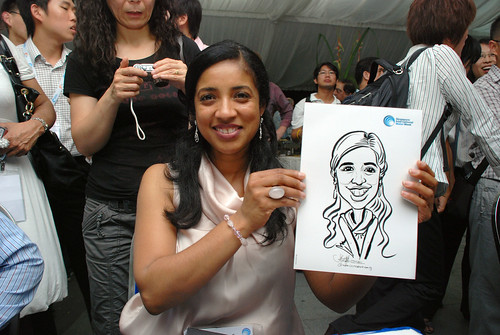 caricature live sketching for Singapore International Water Week Closing Dinner - 22