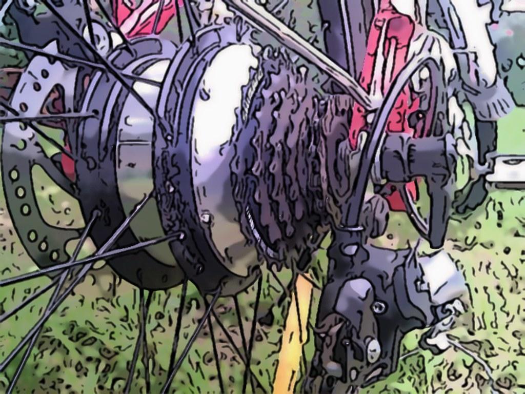 Cartoonified Electric Bike BLDC Hub Motor