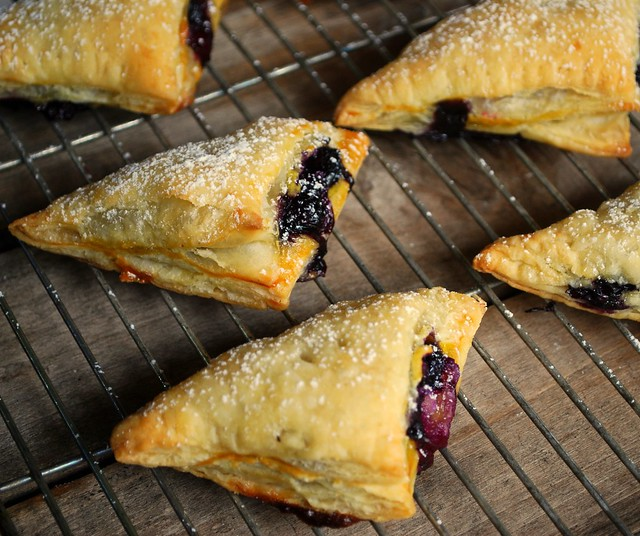 Mini Blueberry Cream Hand Pies