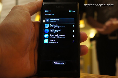 My Accounts In Nokia N9