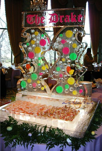 The Drake Hotel Easter Color Seafood Display ice sculpture