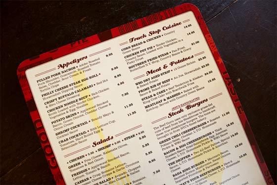 ejemplos de menús para restaurantes