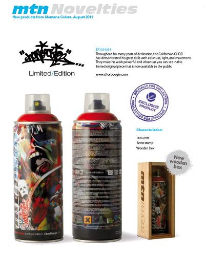 chorboogie tilt limited edition mtn MONTANA cans