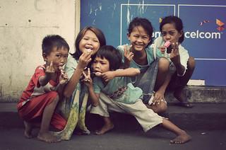 Street Kids in Semporna