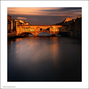 Ponte Vecchio at Sunset (Ian Bramham) Tags: longexposure bridge sunset italy colour landscape photo florence nikon image dusk bridges photograph squareformat tuscany firenze pontevecchio d700 ianbramham 1635vr