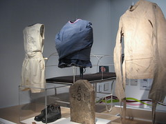Straightjackets on display at a museum