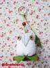 Coruja fustão (Crafeteria) Tags: coruja patchwork decoração canela presentes tecido chaveiro lembrancinhas