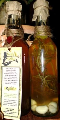 herbs in vinegar