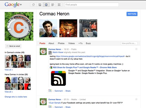 Google+ Profile Picture Homescreen