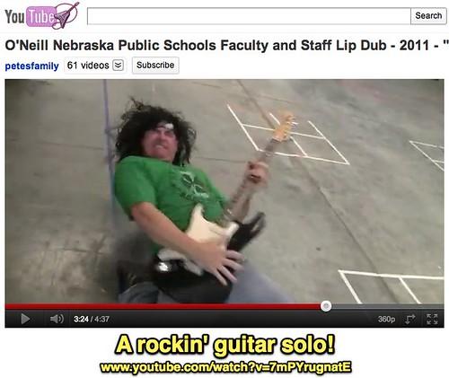 A rockin' guitar solo!