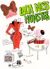 Headless Hottie from Undead Threads Paper Doll Book All images  Andrea Kett 2012 (Andrea Kett) Tags: headless lunchbox poison lochnessmonster pinkhair lochness tartan tamoshanter viviennewestwood shortbreadtin scottishlady bluelipstick highlandtoffee thistlewhistle andreakett viviennewestwoodtartan viviennewestwoodbustle