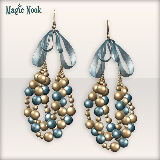 [MAGIC NOOK] Baroque Earrings - Close Up (Royal Blue)