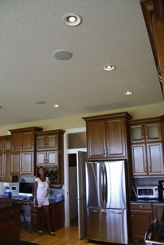 Dimmable 18-watt LED lights in the kitchen of this EnerGuide 89 home.