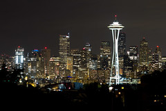 Seattle, WA from Kerry Park (olasis) Tags: seattle city longexposure classic skyline night lights evening downtown cityscape view citylights pacificnorthwest spaceneedle glowing kerrypark lit seattlewa seattlewashington