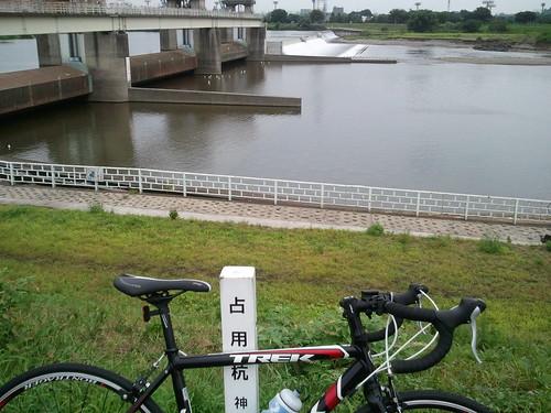 多摩川サイクリングコース折り返し地点の中野島に到着。