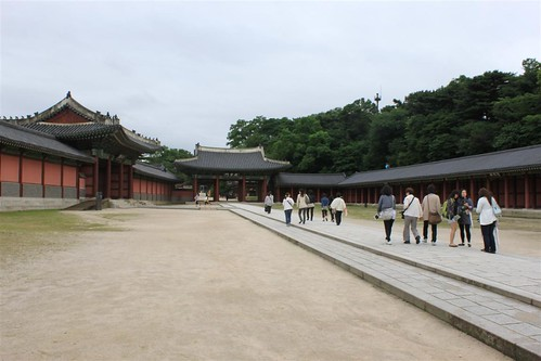 On the way to Injeongjeon Hall, Changdeokgung Palace, Seoul South Korea