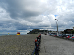 A cloudy Thursday afternoon on Bray Seafront