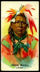Cigarette Card - Indian Chief, Iron Bull (cigcardpix) Tags: vintage advertising indian chief ephemera nativeamerican cigarettecard
