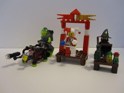 Various lego minifigs