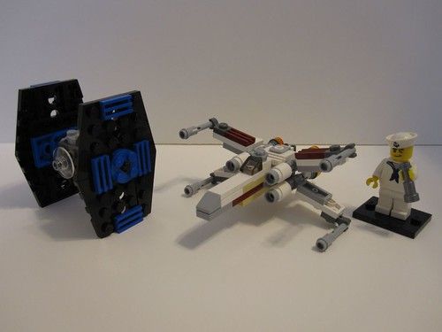 Mini X-Wing and Tie Fighter