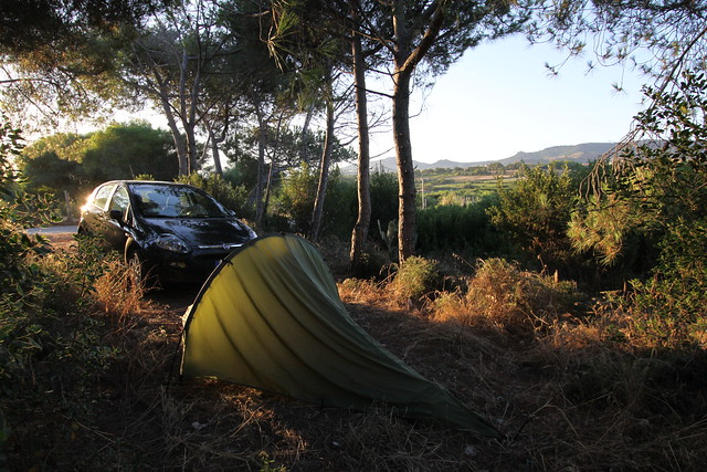 Early morning camp at Maragnani near Valledoria, Sardinia...