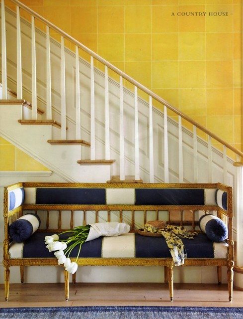 yellow walls country house