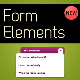 Form Elements PSD