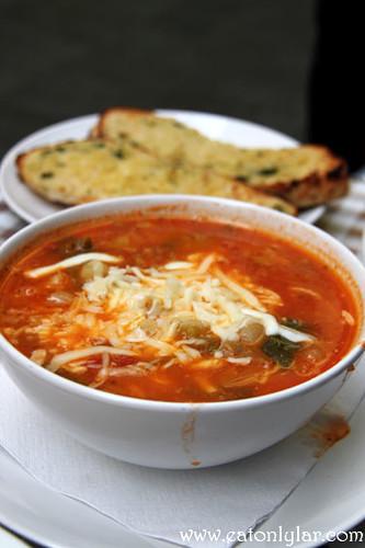 Minestrone soup, Café Minuet