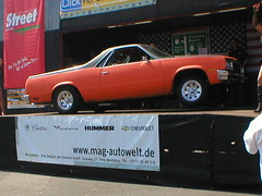 Chevrolet El Camino (Transaxle (alias Toprope)) Tags: auto show street orange usa classic cars chevrolet beauty car america vintage design automobile power camino low hamburg pickup el voiture historic flame chevy chrome american coche soul americans oldtimer motor elcamino autos veteran rider lowrider  macchina streetshow automobiles mag coches styling veterans toprope vecchio exoticcars americancar  storiche uscar streetmag  exoticcolors streetmagshow  lowcamino