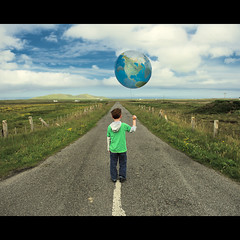 The Road Ahead (PMMPhoto) Tags: road family boy portrait globe photographer earth glasgow  balloon lifestyle tiree lanarkshire strathaven paulmcgee donotusewithoutpriorpermission pmmphoto