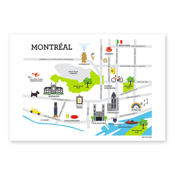 Map of Montreal - Pure Green Mag, Issue 6