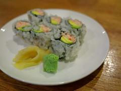 California Rolls (weizor) Tags: sf sanfrancisco california ca food usa macro america sushi lumix ginger panasonic bayarea japanesefood wasabi californiarolls micro43 microfourthirds 20mmf17asph dmcg3