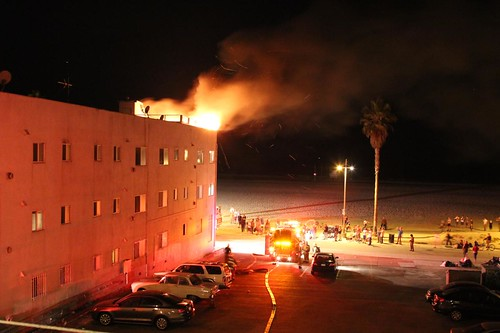 Fire in Venice Beach