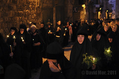 Dormition of the Theotokos (David Mor) Tags: flowers greek dawn jerusalem nuns candlelight procession russian orthodox viadolorosa slavonic gerusalemme worshipers theotokos jerusaln  ierusalim   hierosolyma komsis    virgimary