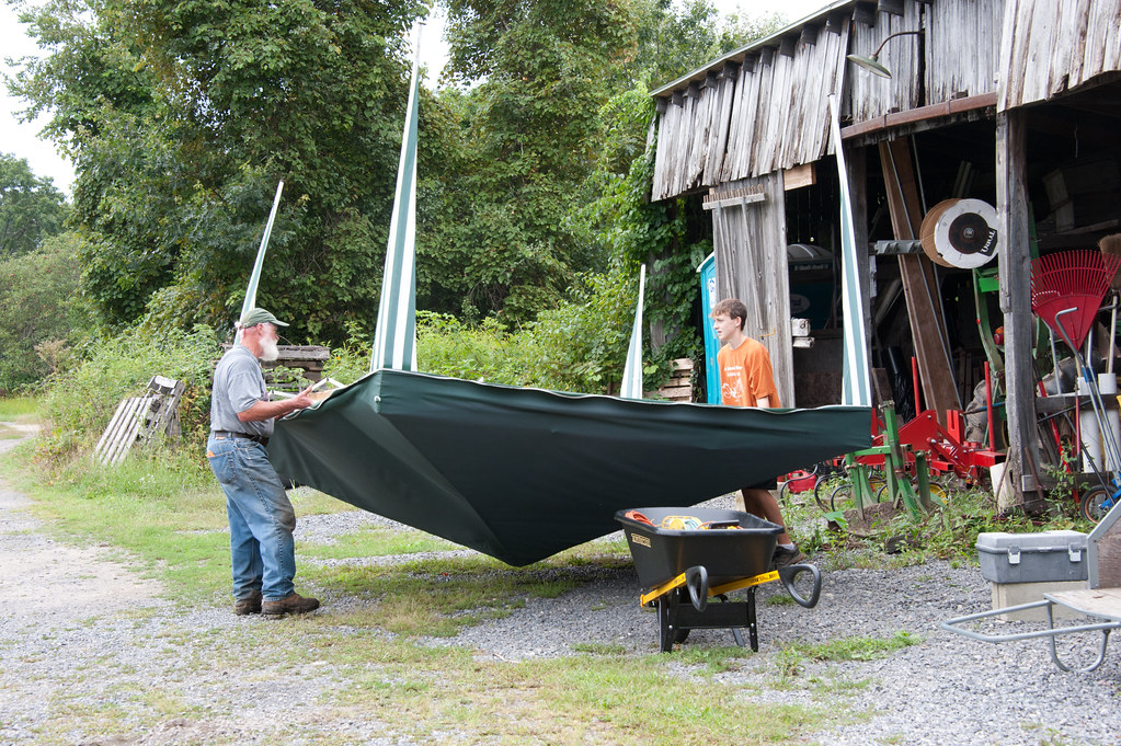 Cleanup in preparation for hurricane Irene