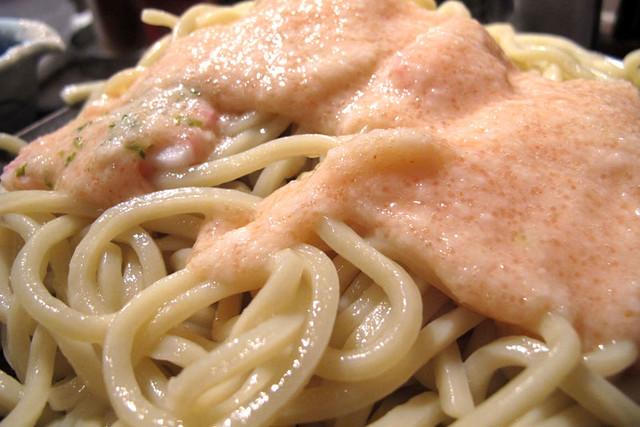 110409_172744_中目黒_三矢製麺所_桜のつけ麺
